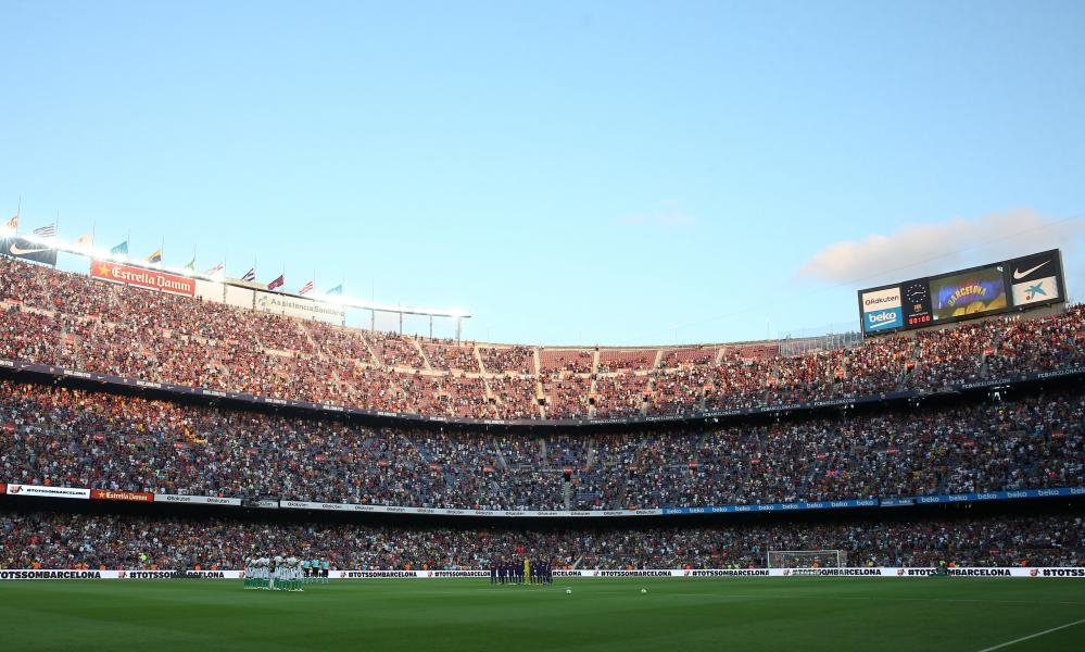 A general view inside Camp Nou before kick-off.