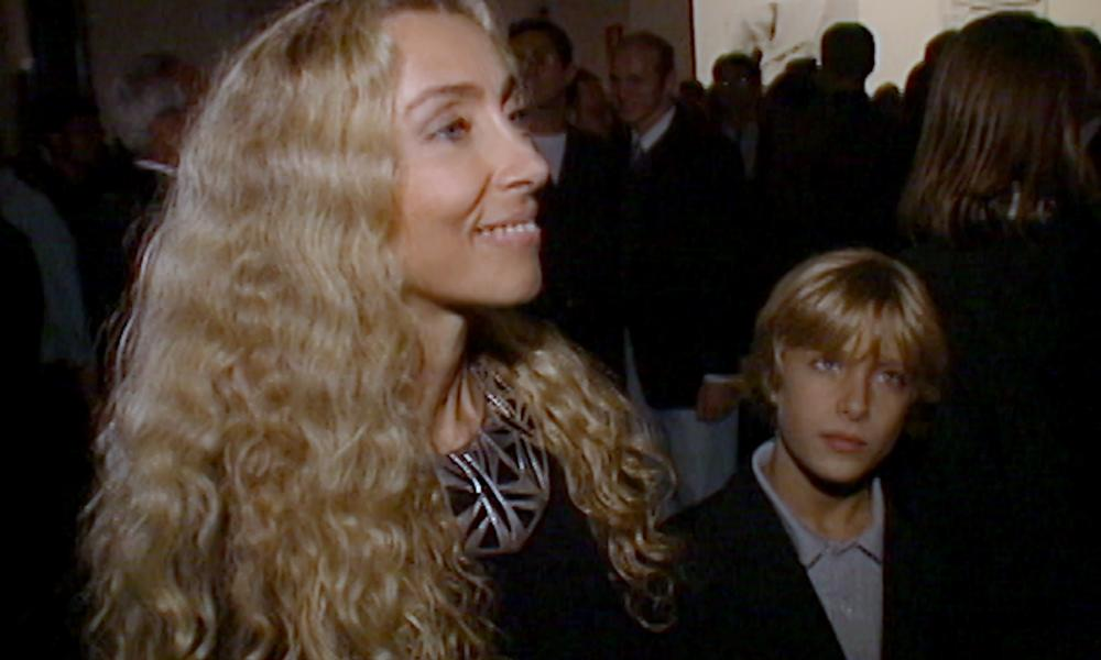 Blonde ambition: Franca Sozzani and Francesco Carrozzini at a fashion show in 1994.