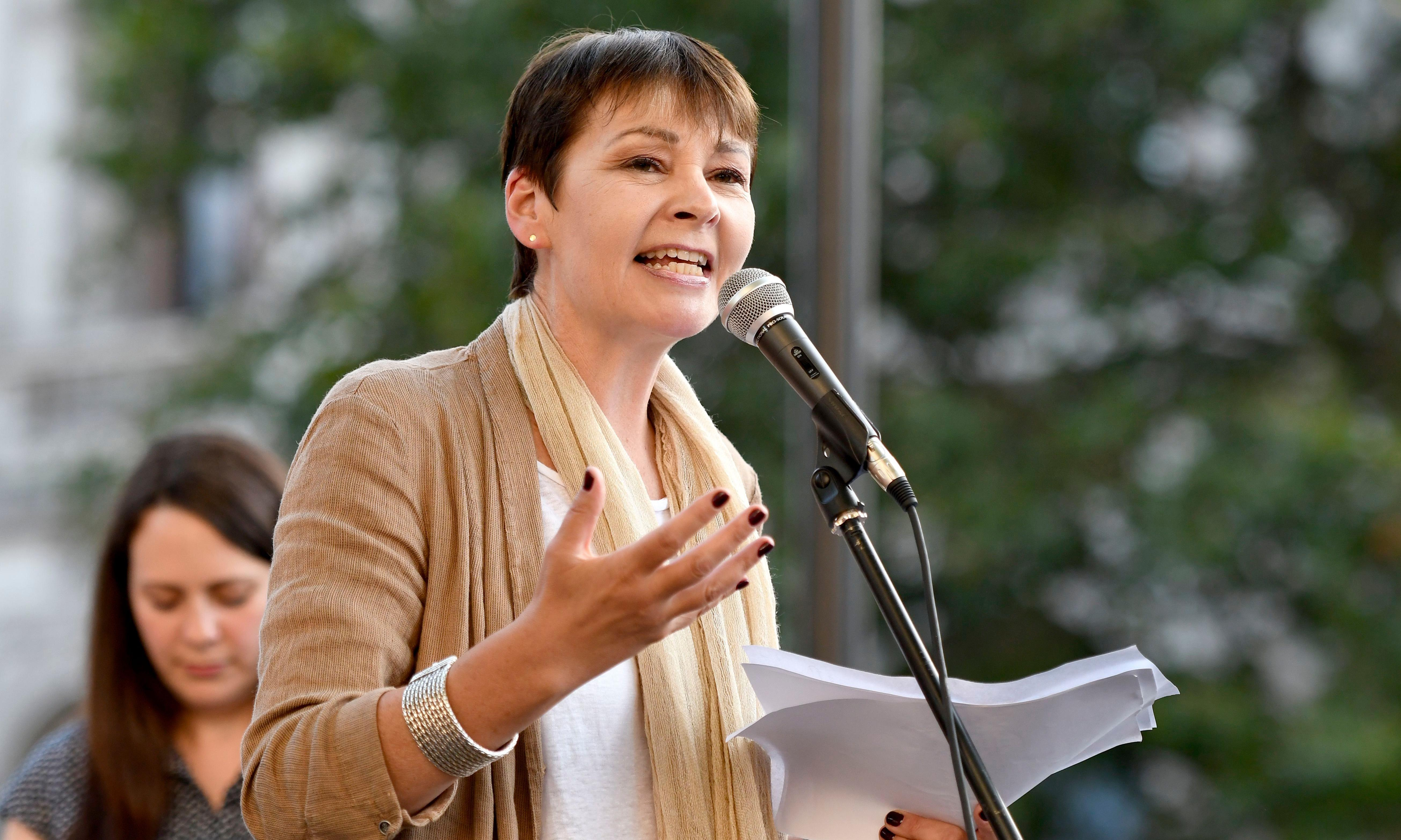 Caroline Lucas apologises for omitting BAME women from proposal