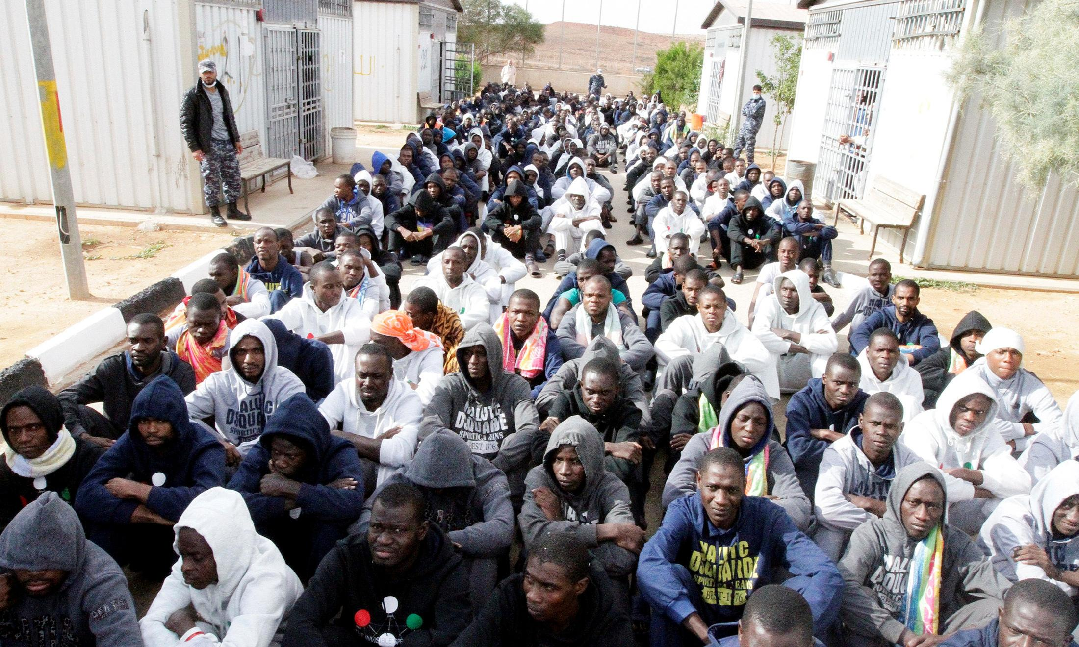 Migrants detained in Libya for profit, leaked EU report reveals