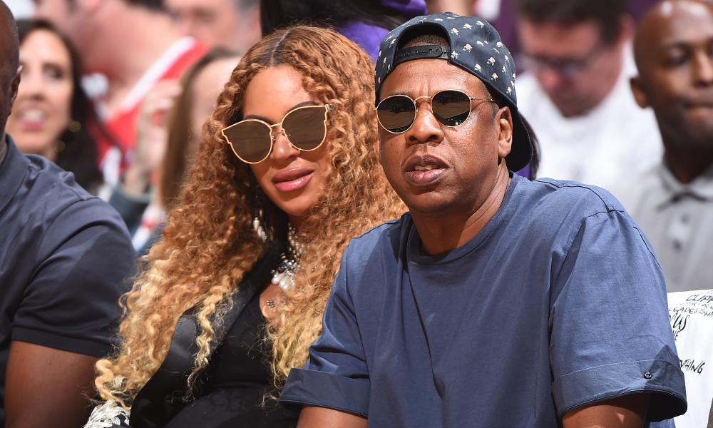 Queen Bey looking regal in her shades.