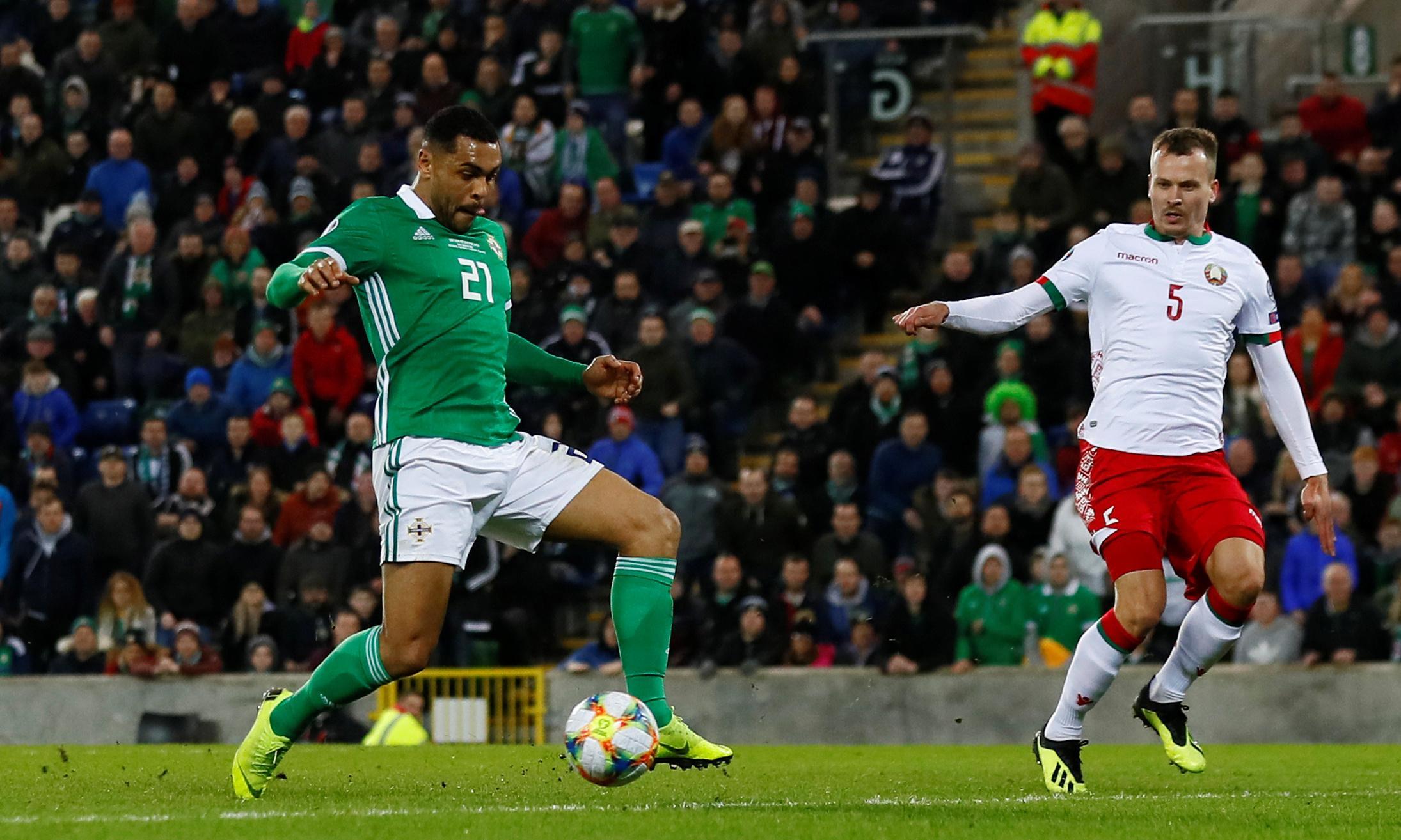 Josh Magennis strikes late for Northern Ireland to beat Belarus