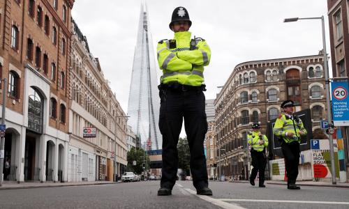 Police officers run towards danger. It hurts when the government abandons us