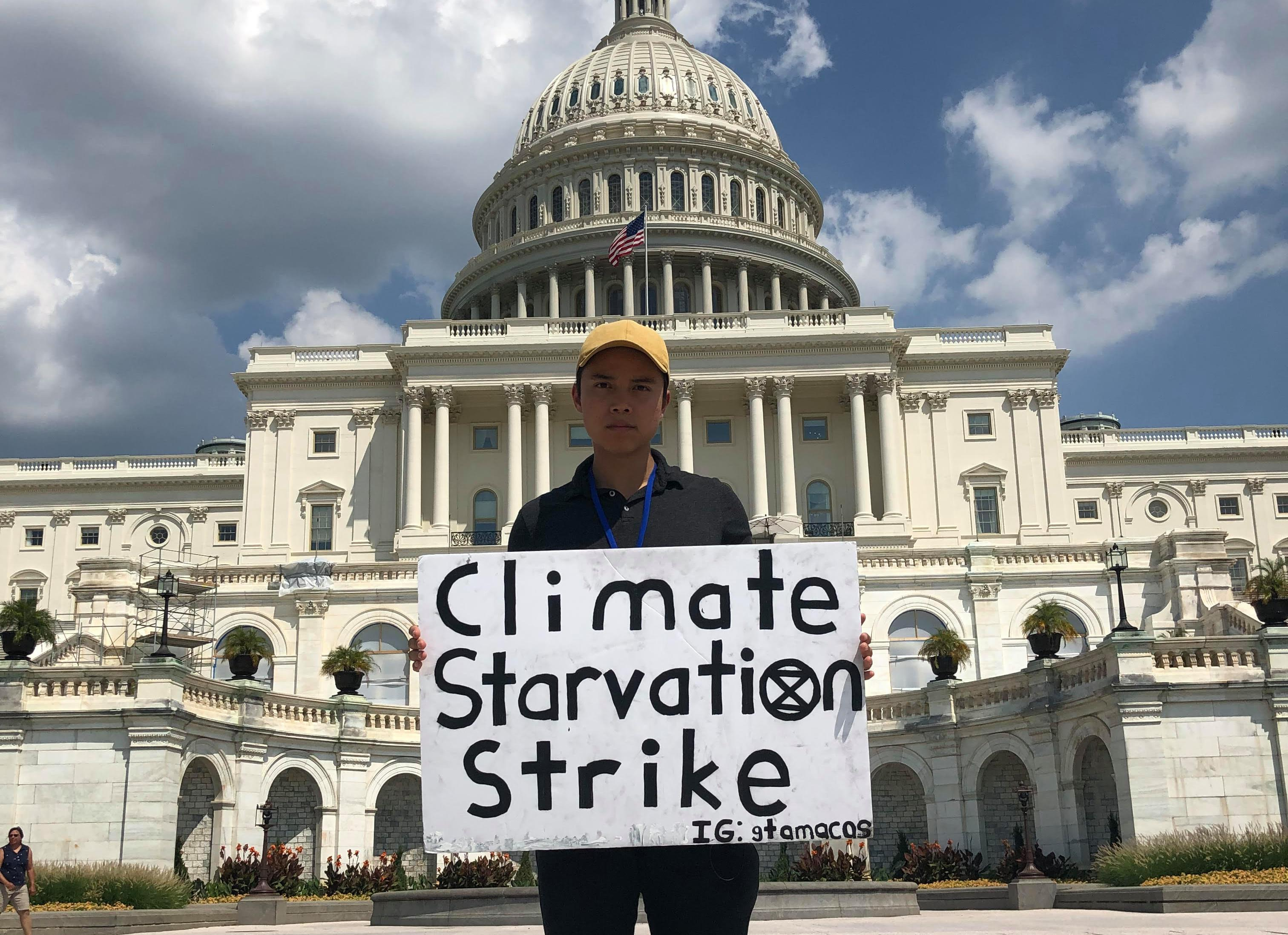 'People should be terrified': one teen's hunger strike over the climate crisis