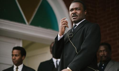 "In this image released by Paramount Pictures, David Oyelowo portrays Dr. Martin Luther King, Jr. in a scene from ""Selma,"" a film based on the slain civil rights leader. The 50th anniversary of the historic civil rights marches in Selma and the hit movie that tells the story are expected to bring thousands of visitors to this  Alabama city. Visitors can still walk across the bridge where voting rights marchers were beaten in 1965 and visit the churches where they organized the protests. (AP Photo/Paramount Pictures, Atsushi Nishijima)"