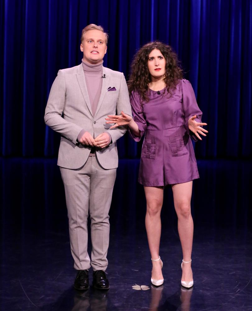 The Tonight Show Starring Jimmy Fallon. Comedians John Early and Kate Berlant