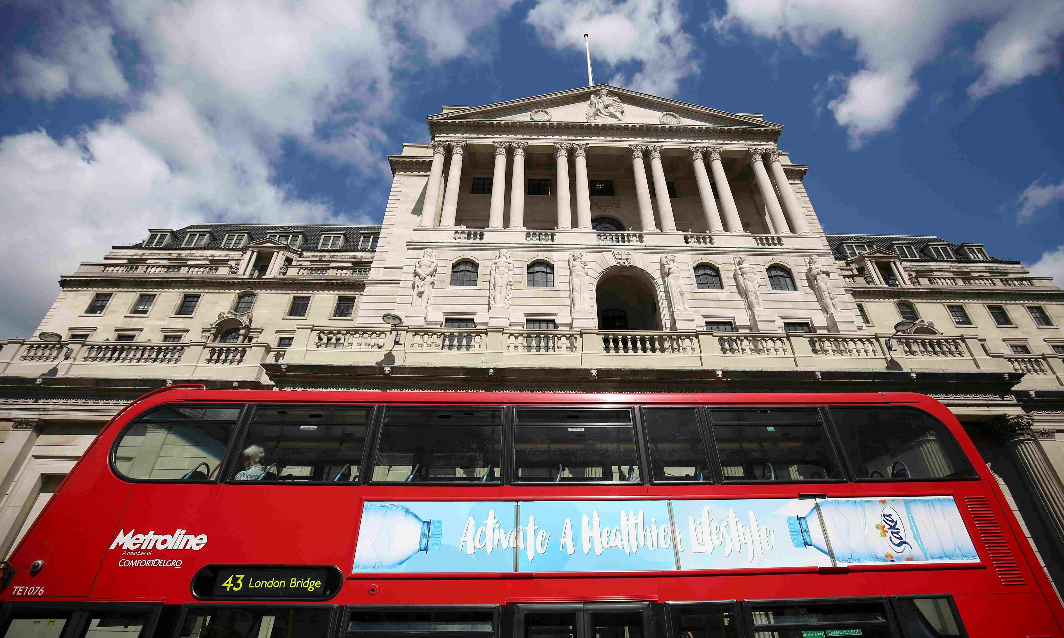 Pressure eases on Bank to cut rates as UK economy improves