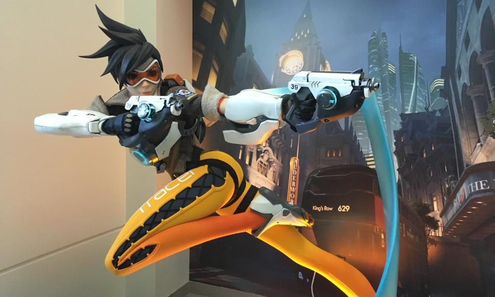 Image result for blizzard HQ tracer statue