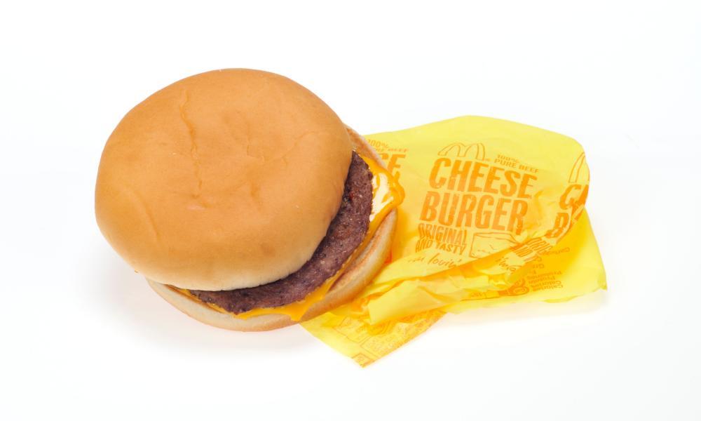 McDonald's cheeseburge.