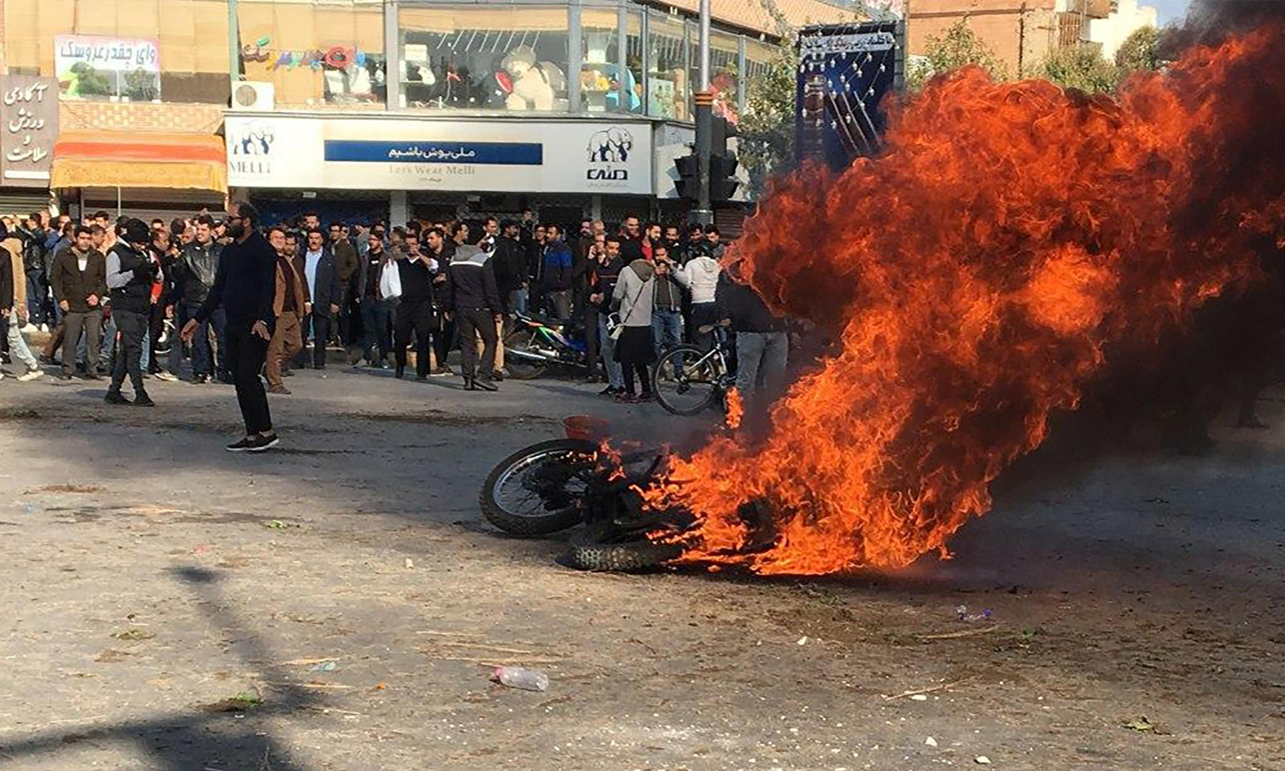 Iran supreme leader backs petrol price rises as protests spread