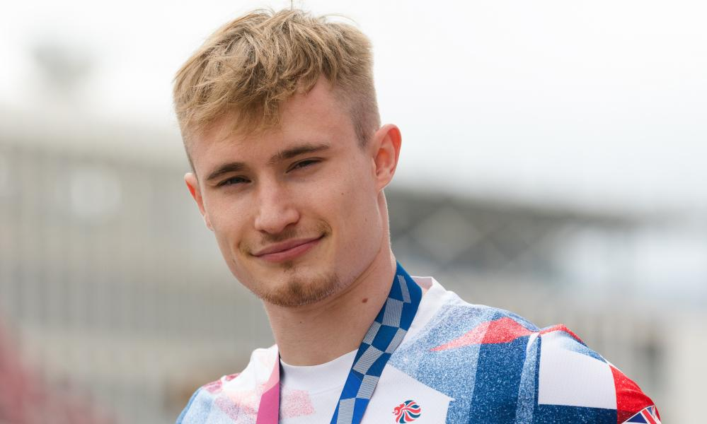 Great Britain's Jack Laugher attends the 'I Am Team GB' event at the London Stadium in the Queen Elizabeth Olympic Park in London, Britain, 14 August 2021.
