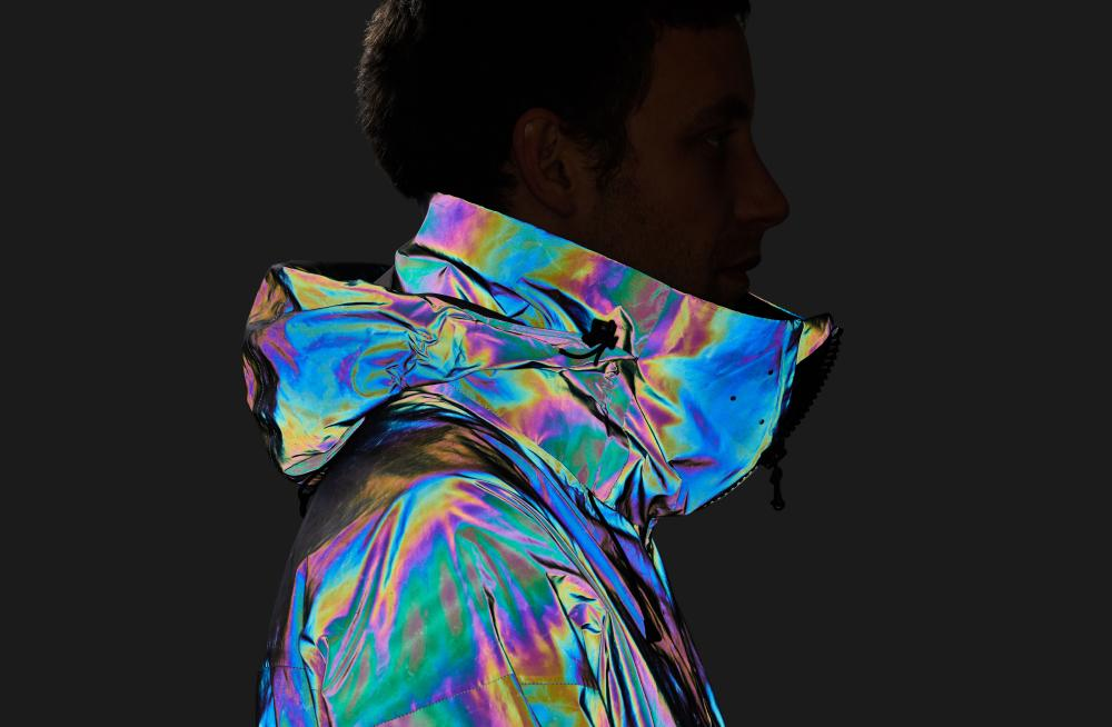 Vollebak's Black Squid Jacket uses lasers, resin and microscopic glass spheres to mimic the adaptive camouflage of the squid.