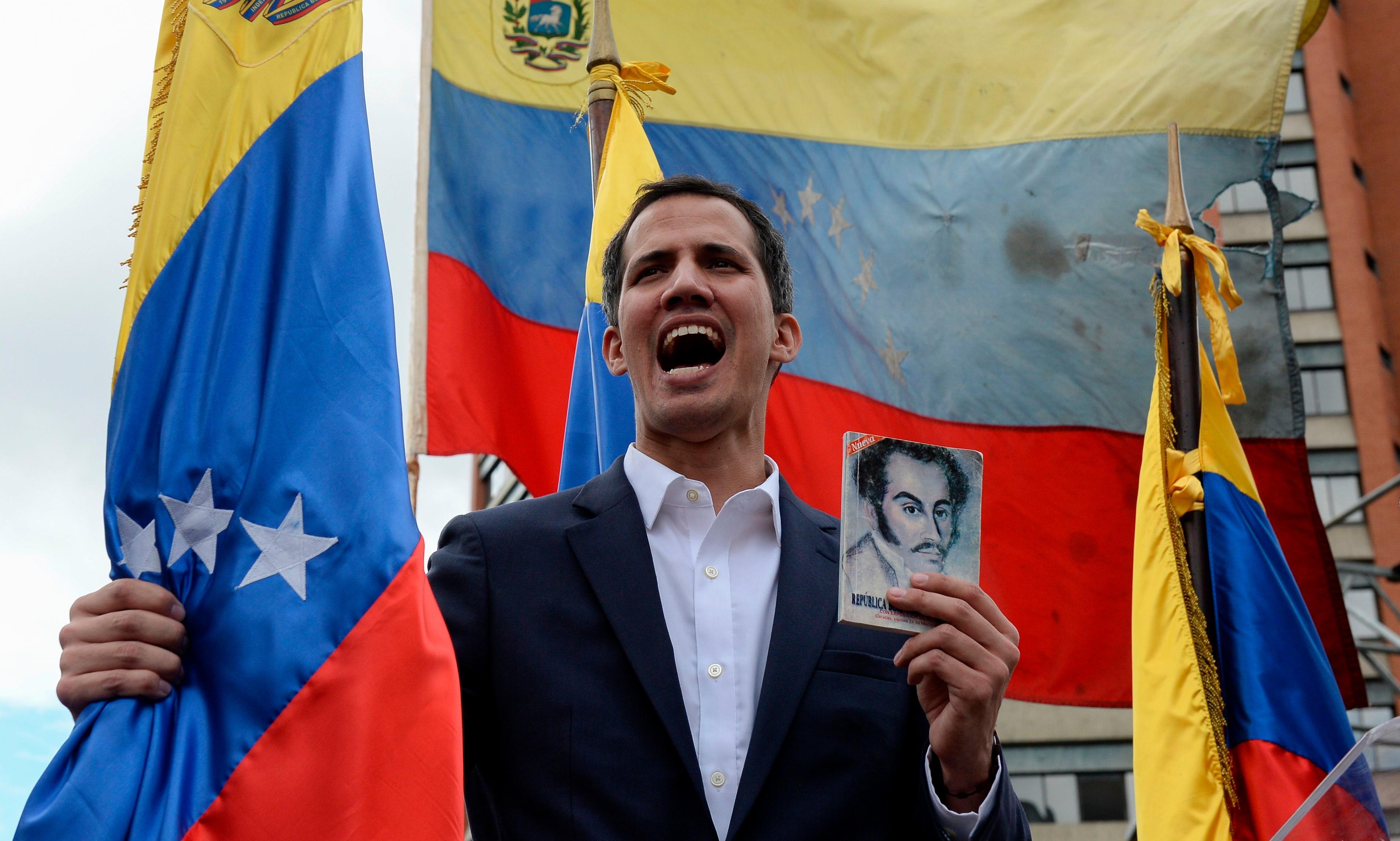 Thursday US briefing: US backs Guaidó as Venezuela crisis worsens
