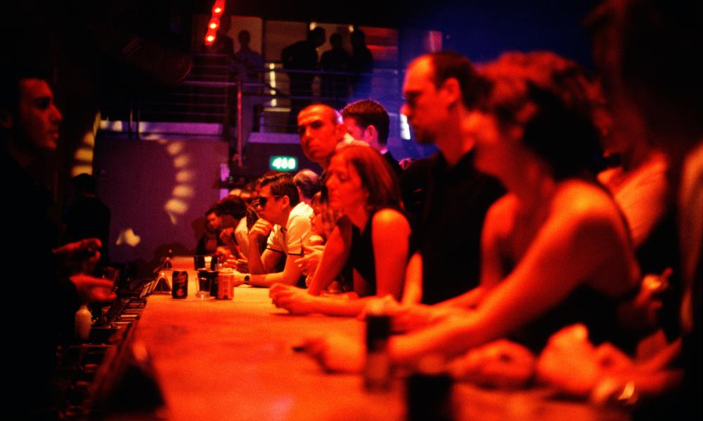 The bar at Ministry of Sound nightclub, London.