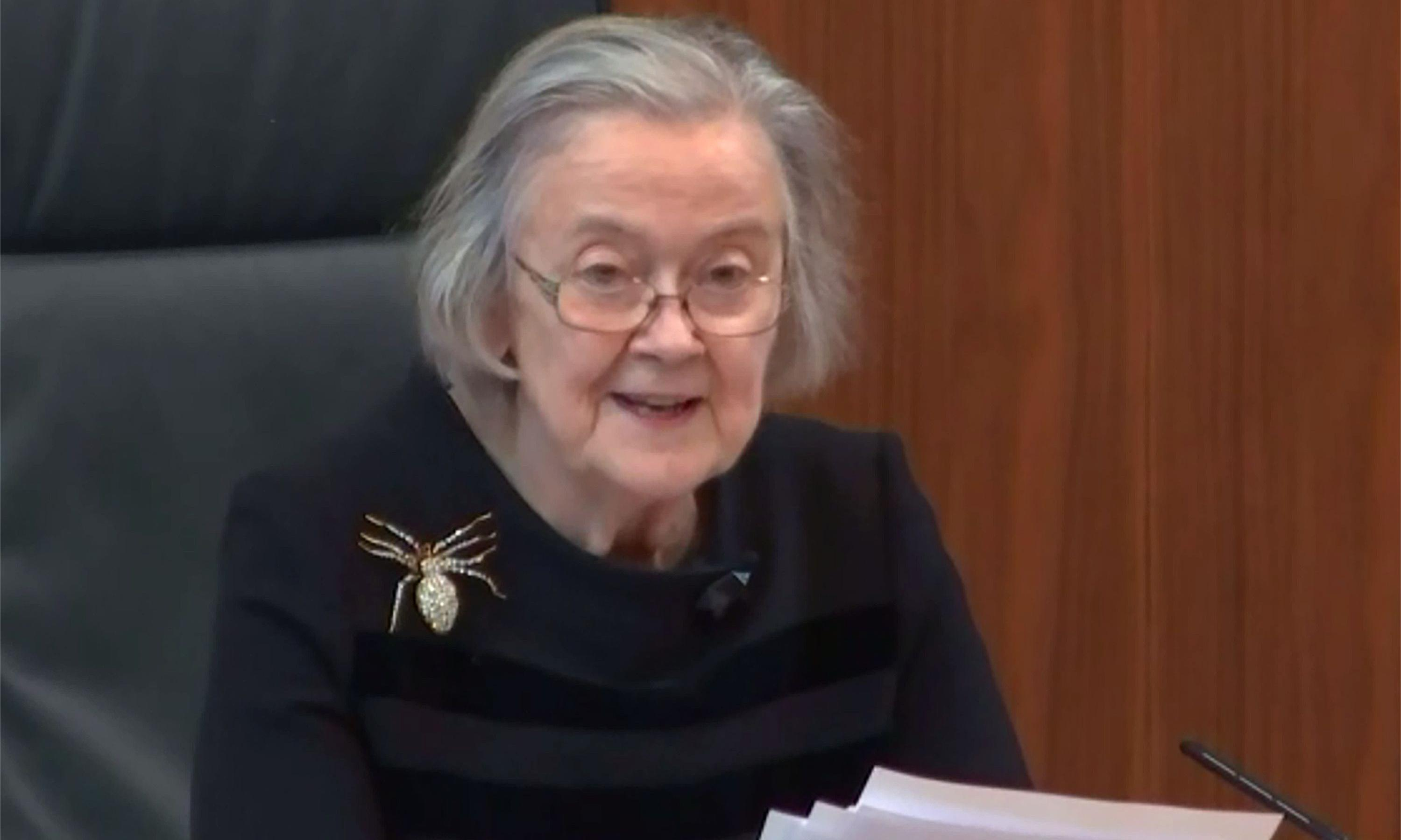 How Lady Hale's giant spider brooch sent the web into a spin