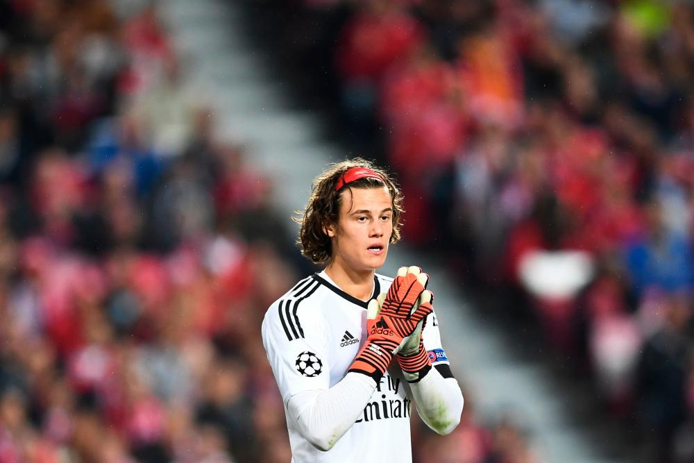 Svilar reacts at the final whistle.