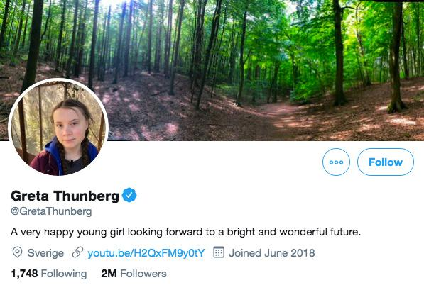 Greta Thunberg turns tables on Trump and quotes his mockery in new Twitter bio