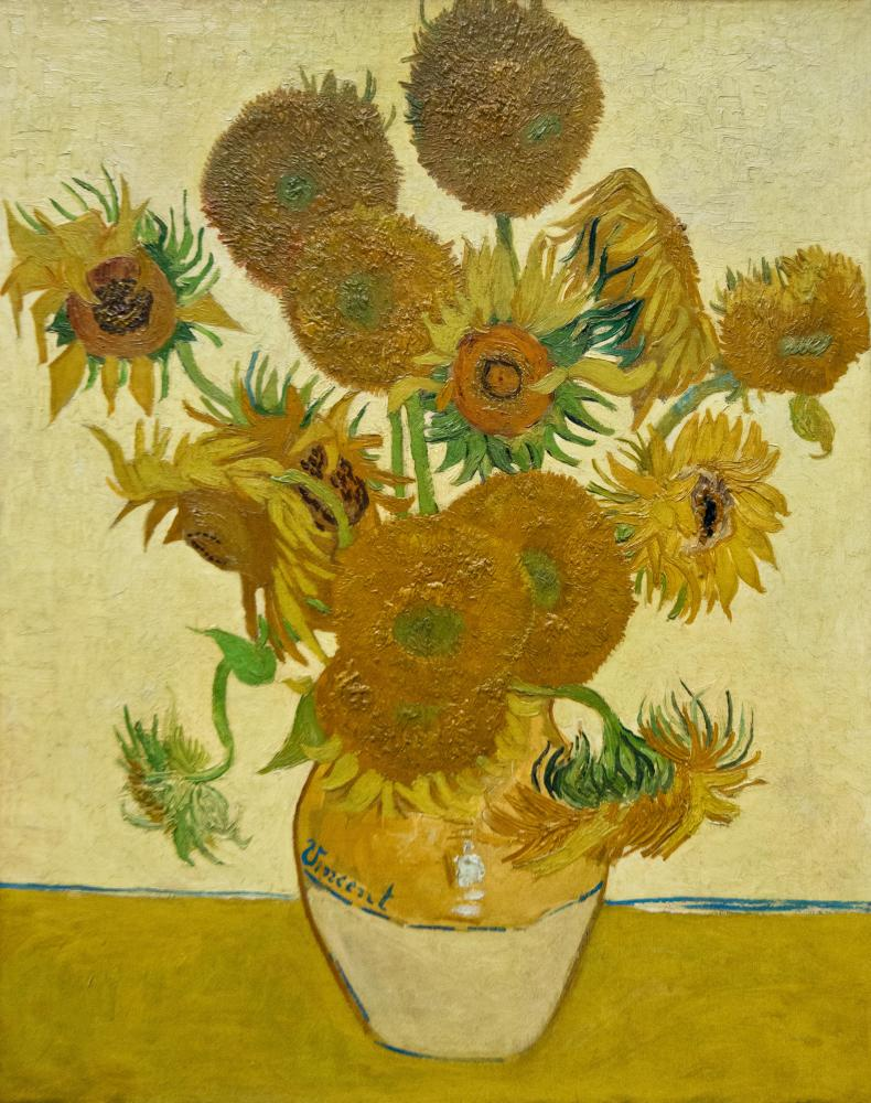 Sunflowers, 1888, by Vincent Van Gogh