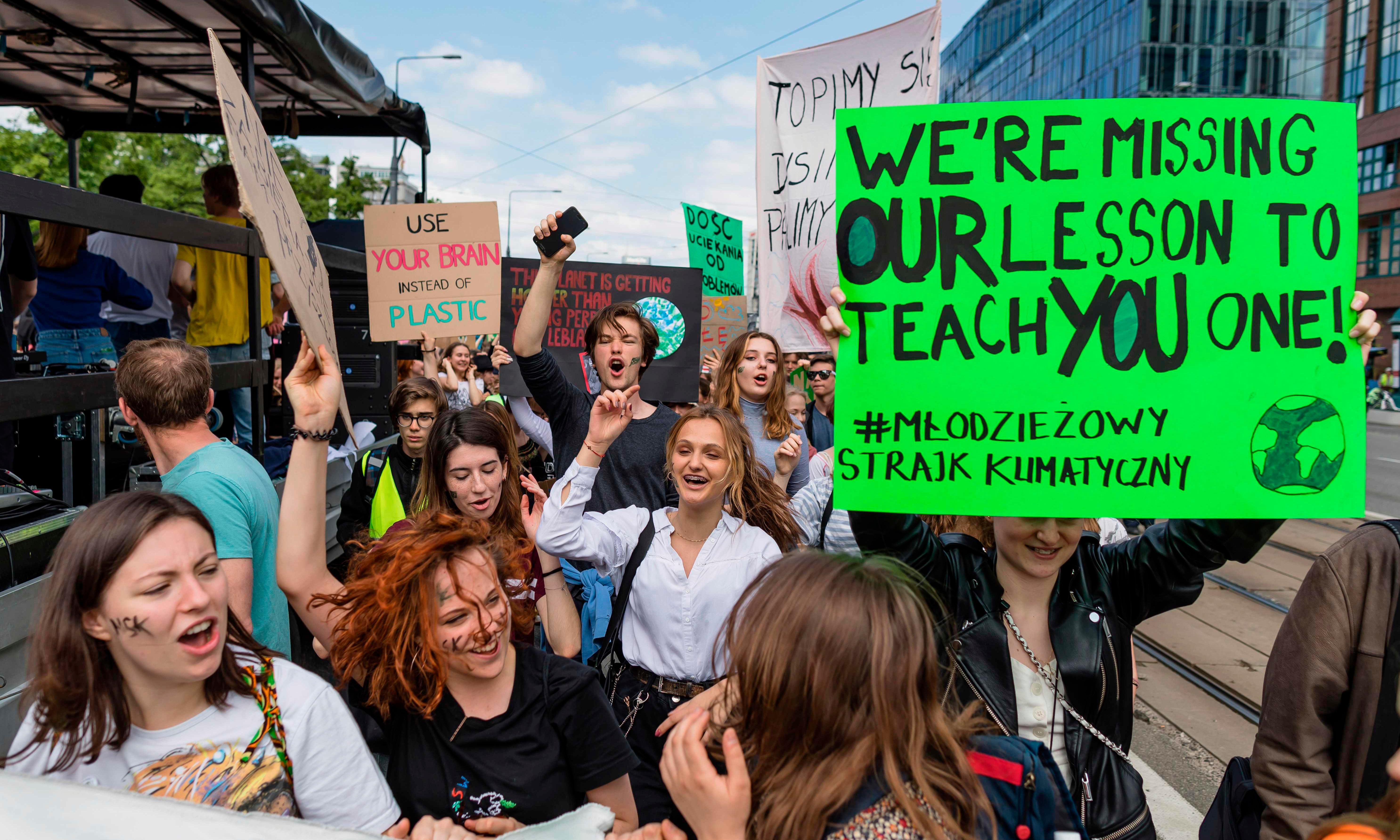 Schoolchildren go on strike across world over climate crisis