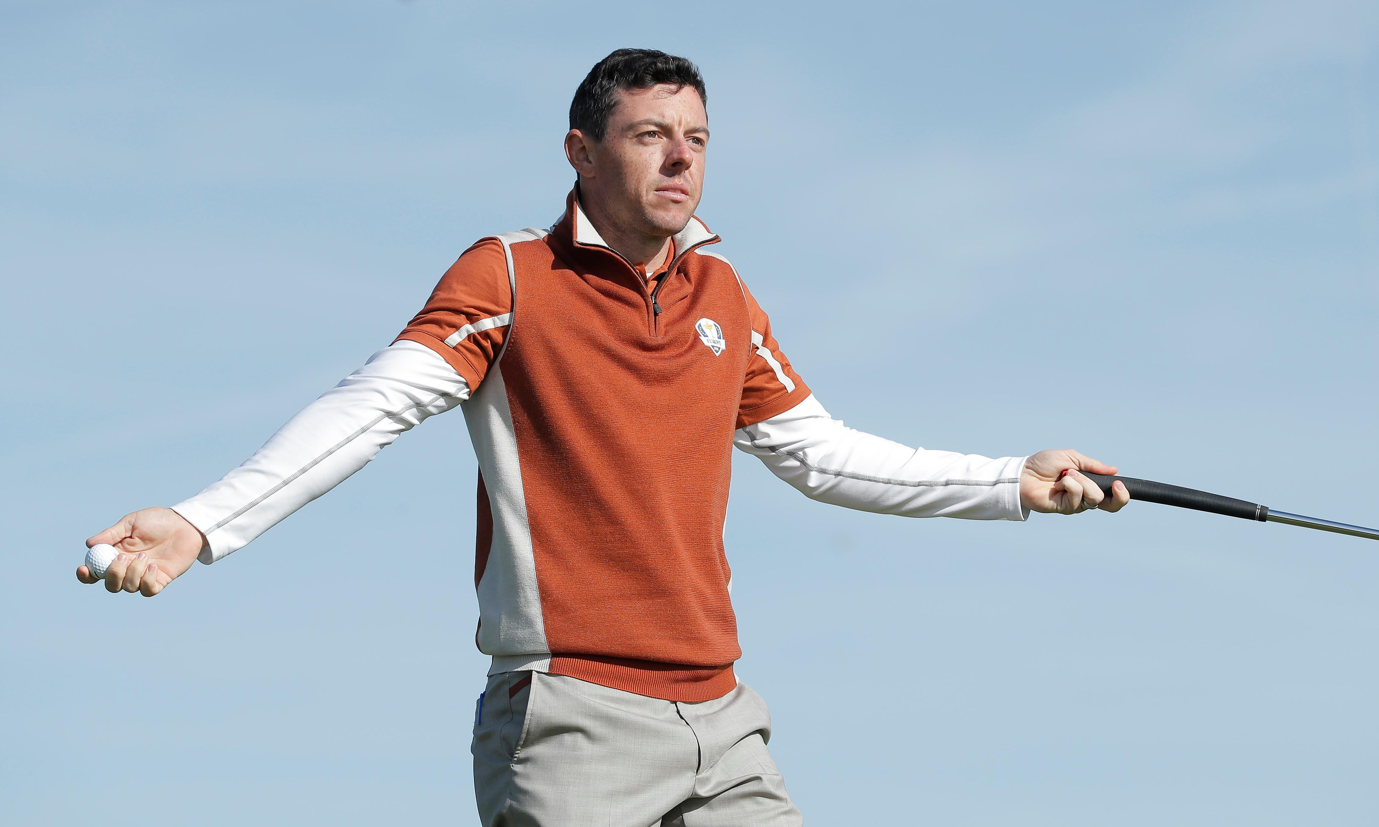 Rory McIlroy in Ryder Cup wobble after being riled by gallery shout