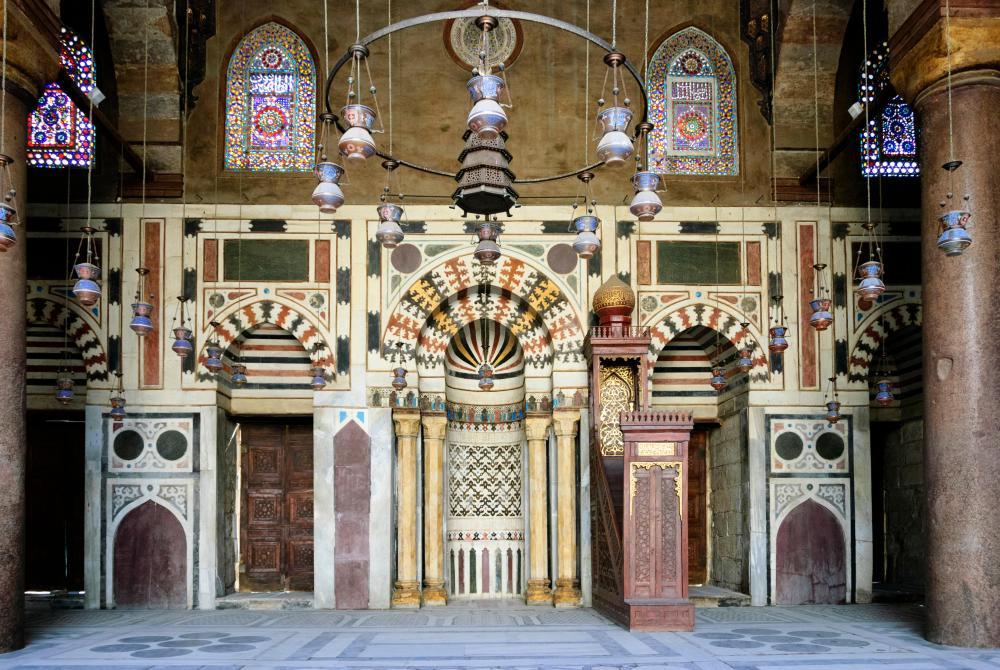The 14th-century Mosque-Madrassa of Sultan Barquq