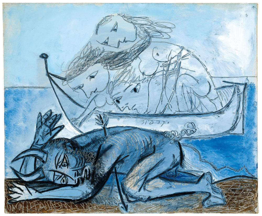 Barque de nai?ades et faune blesse?, December 31, 1937.