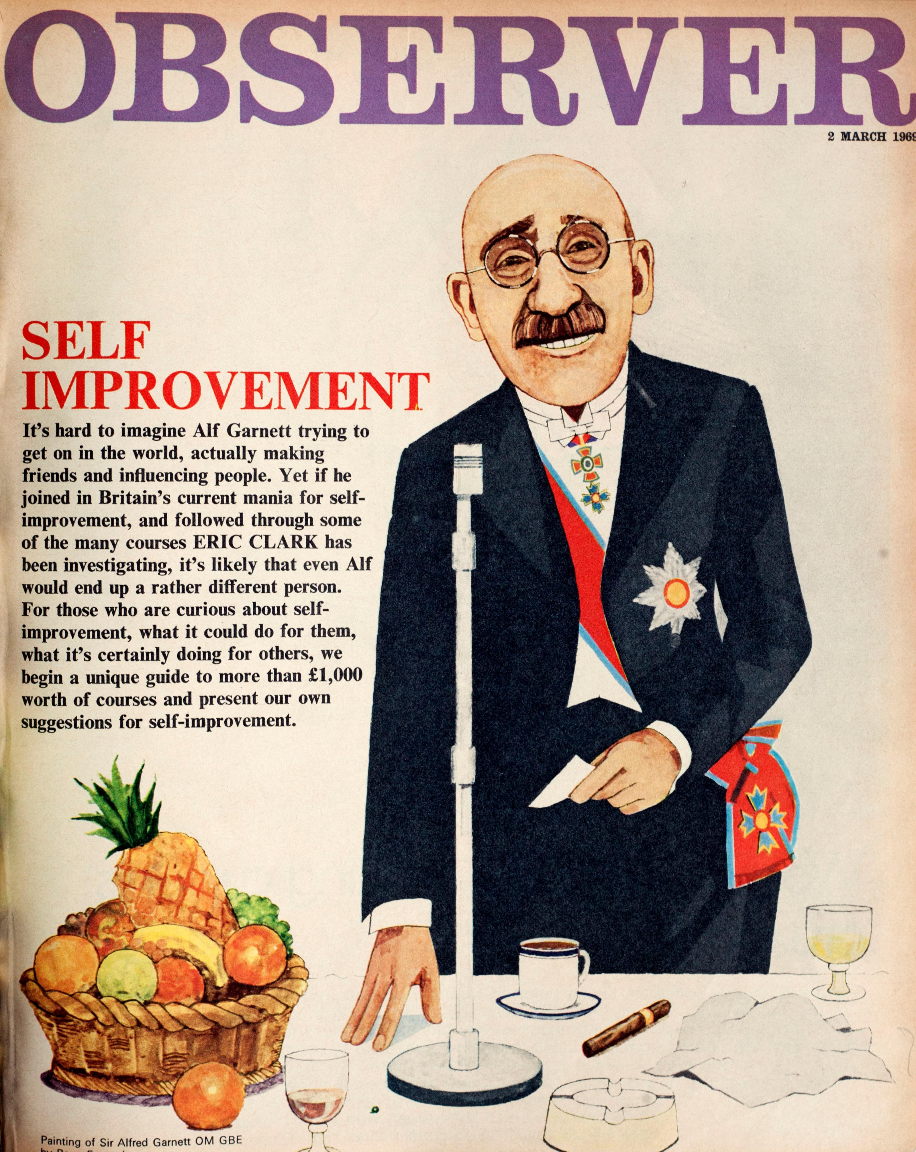 From the archive: Alf Garnett offers tips on self-improvement