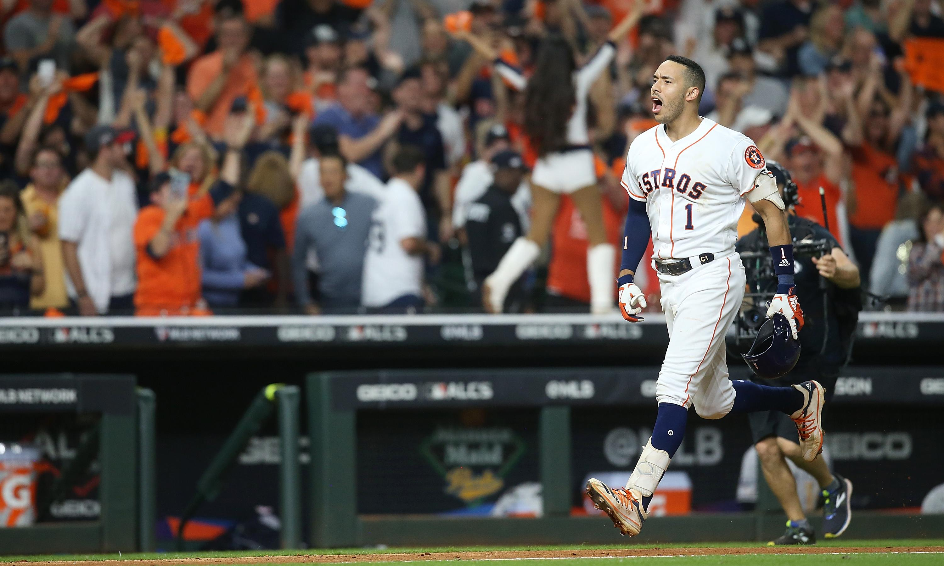 Houston Astros level ALCS with Yankees on Correa's walk-off in 11th