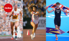 British Olympians Mary Peters, Fatima Whitbread and Alistair Brownlee