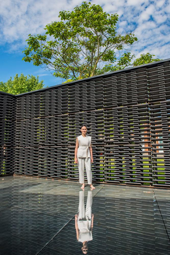 Frida Escobedo in her 2018 Serpentine Pavilion.