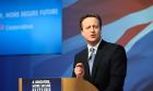 David Cameron launches the Conservative Party Manifesto in Swindon, Wiltshire. 14 Apr 2015