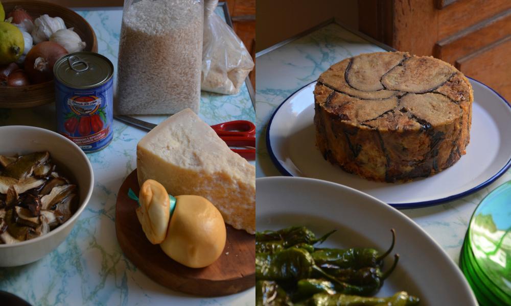Rachel Roddy The Guardian Rice Cake With Aubergine