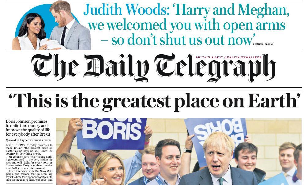 Telegraph drops WH Smith water promo as pre-tax profits fall 94%