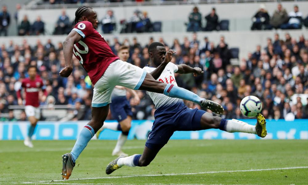 Michail Antonio finishes emphatically for what proved to be the winning goal in the 67th minute.