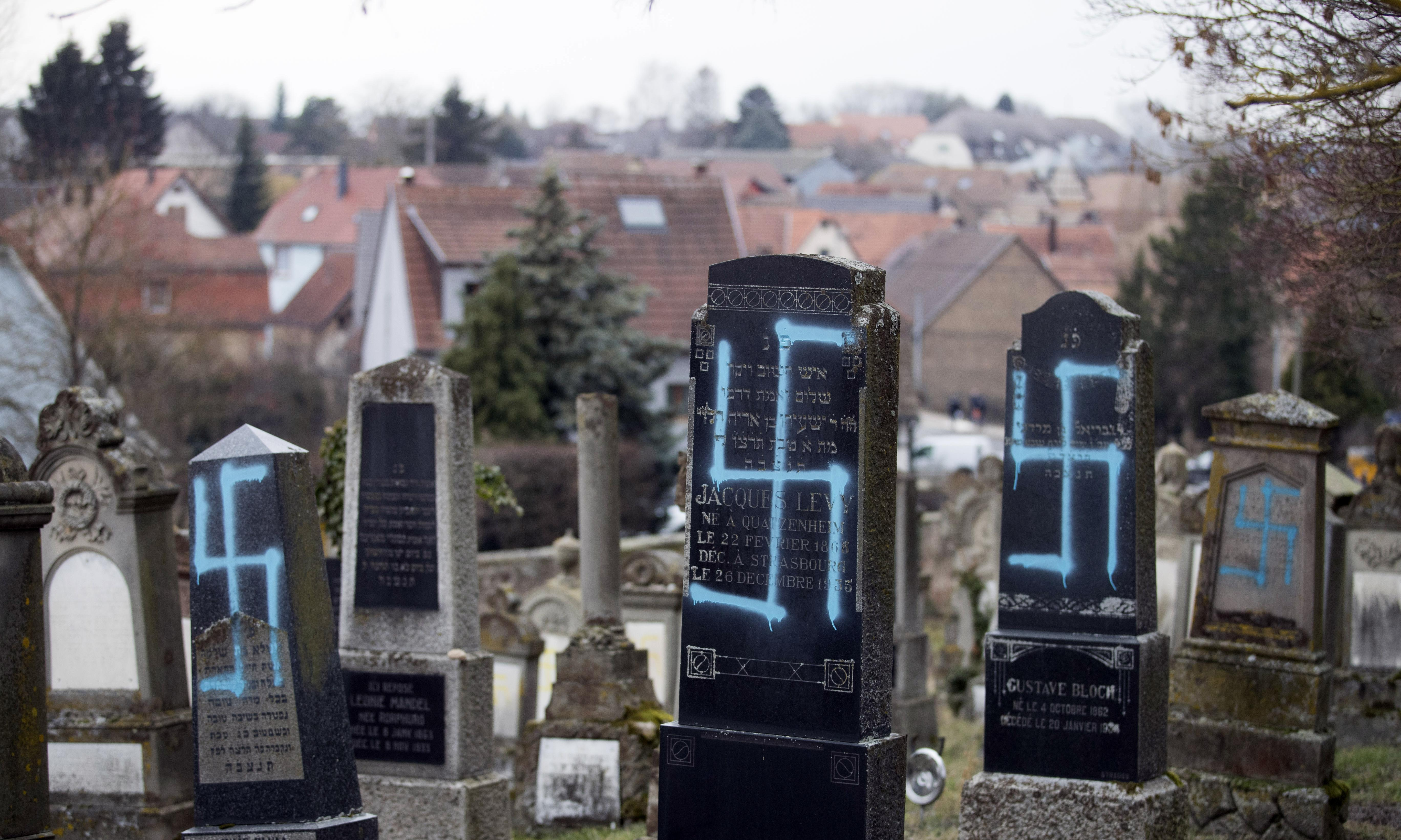 More tombs desecrated in France before antisemitism protests