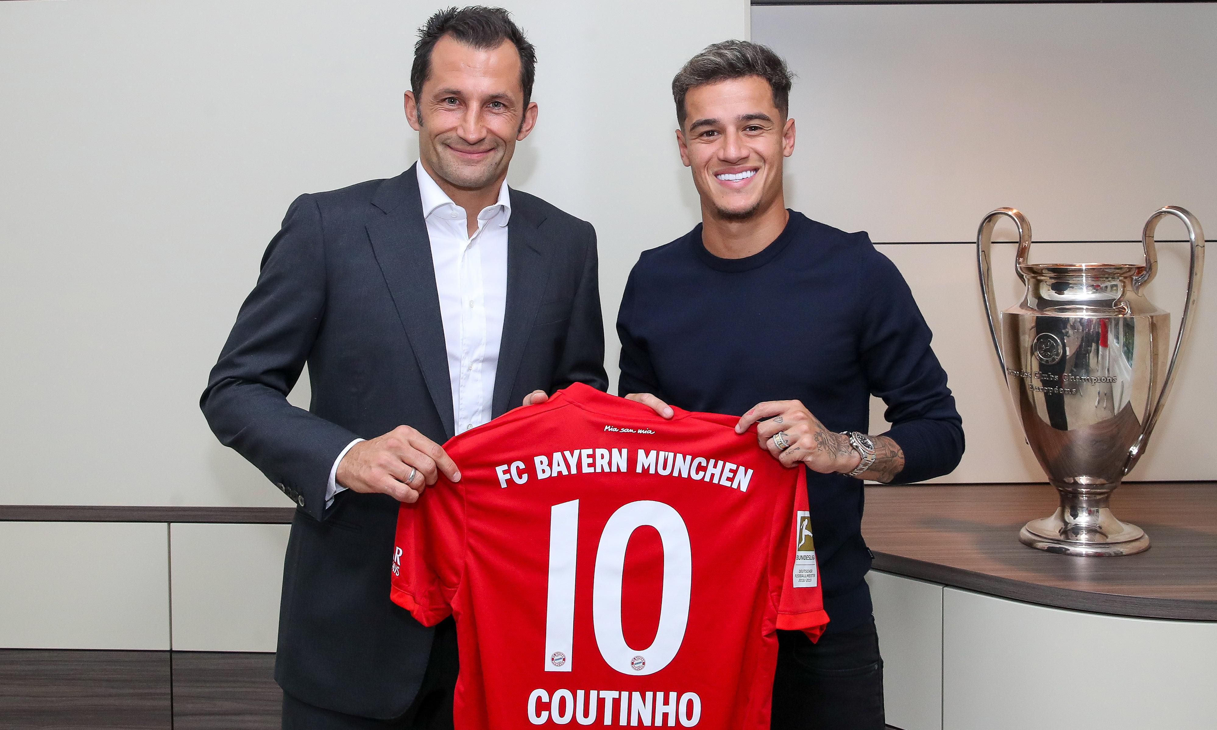 Bayern loan Philippe Coutinho from Barcelona for £7.8m with option to buy