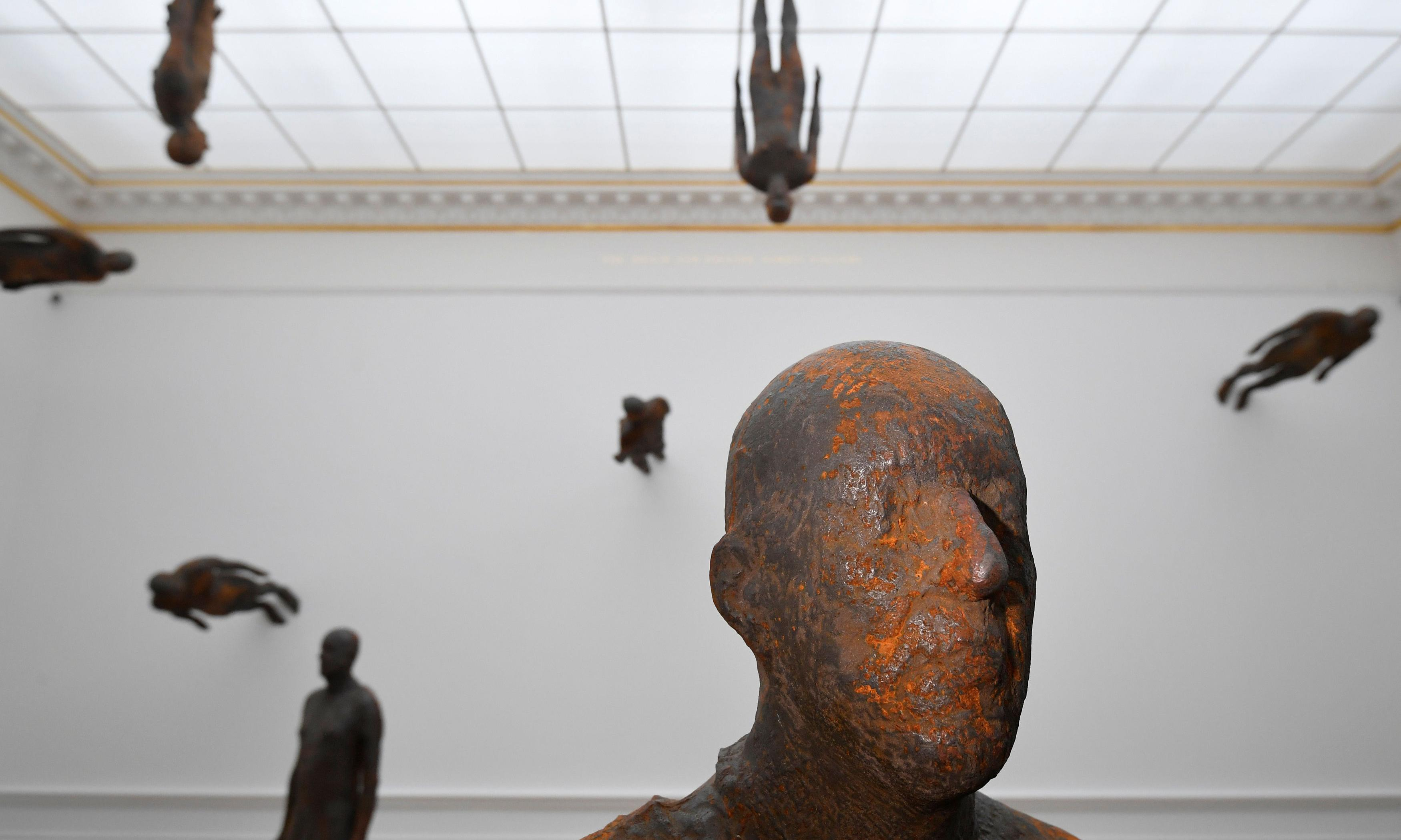 Antony Gormley review – metal master puts a bomb in the RA