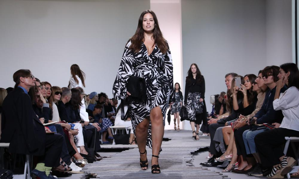 Ashley Graham on the catwalk for Michael Kors, new York spring/summer 2018.