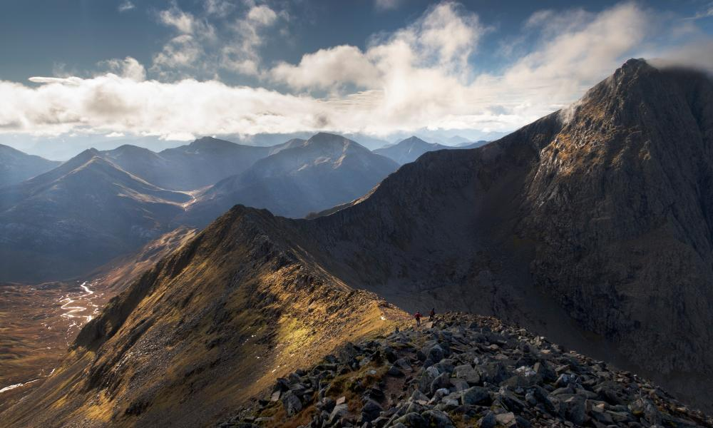 The Summit of Ben Nevis is seen on the right