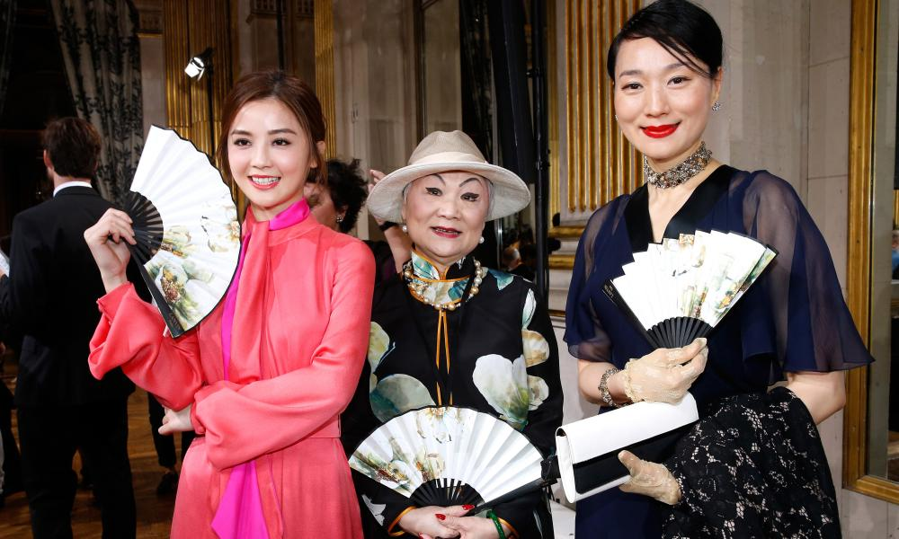 Actor Charlene Choi, owner of Lanvin Shaw Lan Wang, and guests.