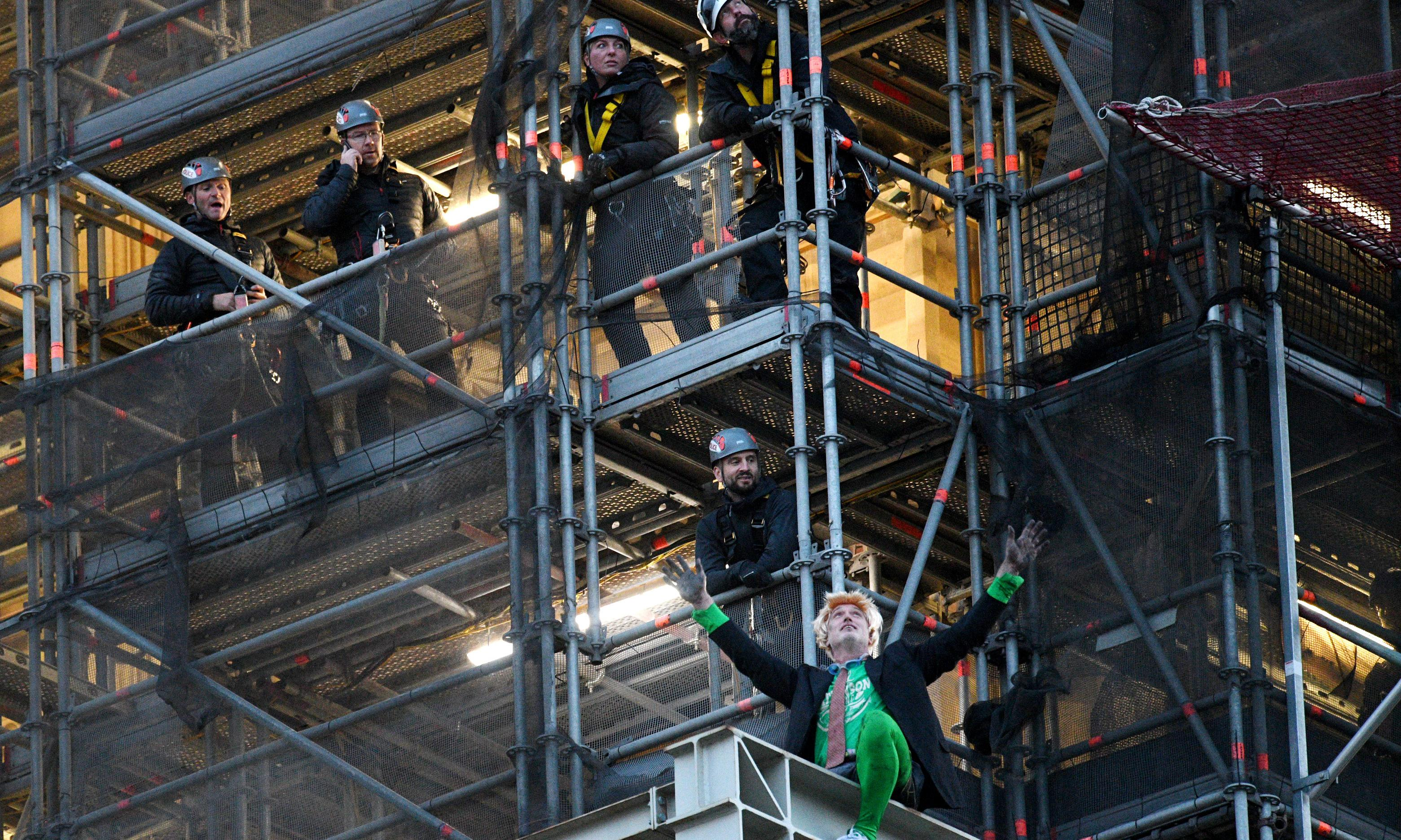 Extinction Rebellion protester removed from Big Ben's tower
