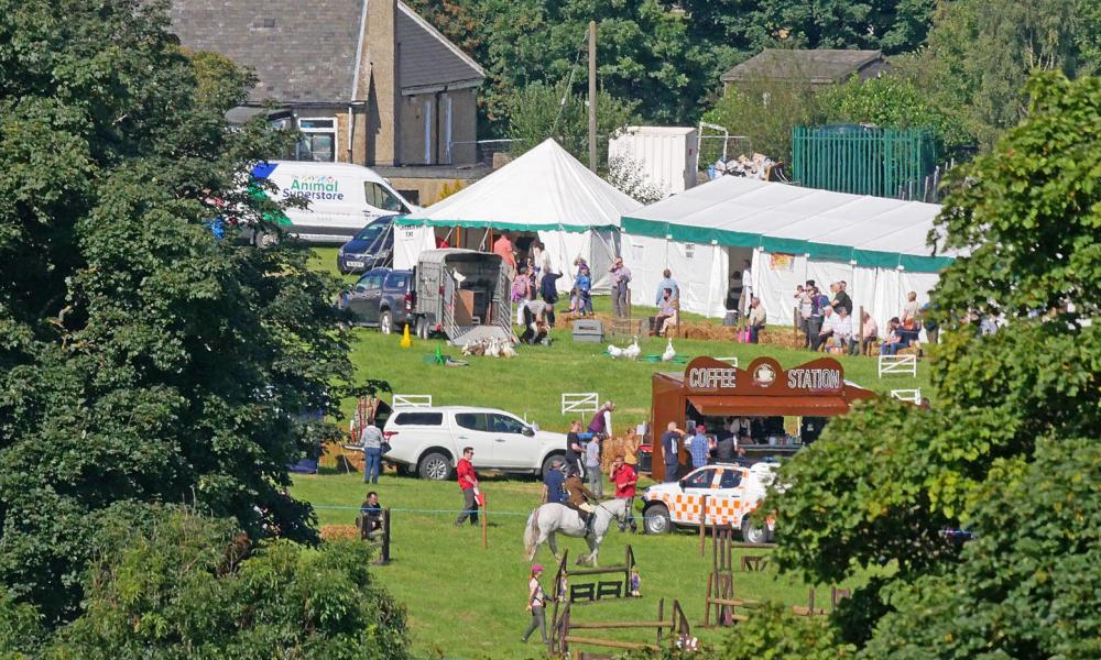 The sound of The Floral Dance drifted up the fellside, from the Weardale Agricultural Society showground.