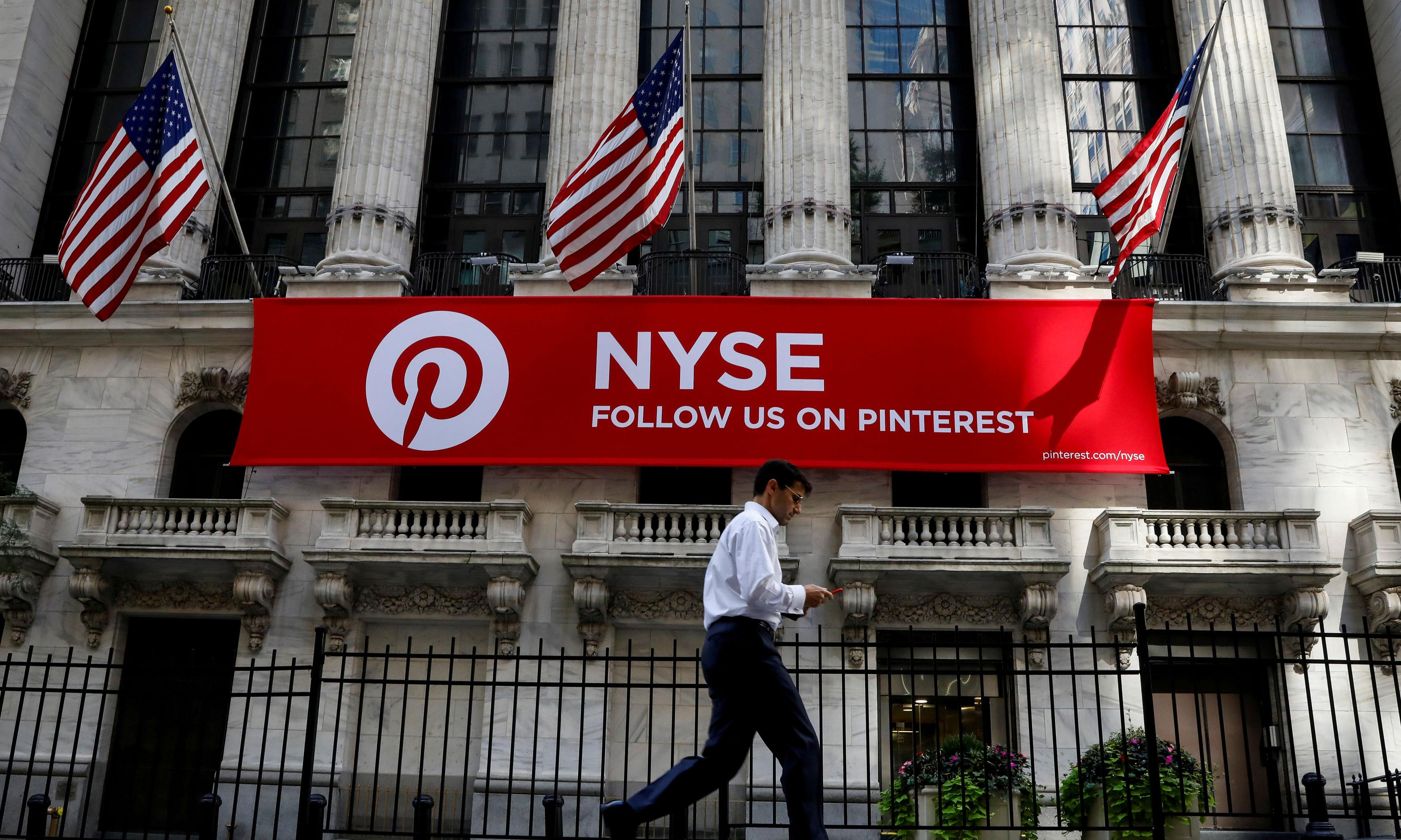 Pinterest's IPO sets company value at $12.7bn amid flurry of tech debuts
