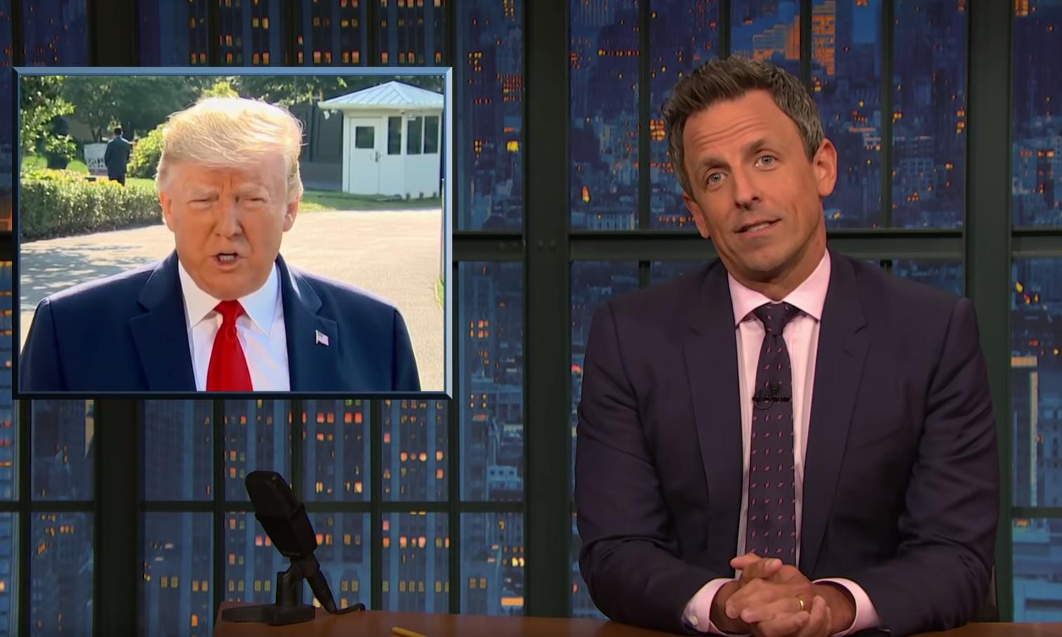 Seth Meyers to Trump: 'What chemical are you missing from your brain?'