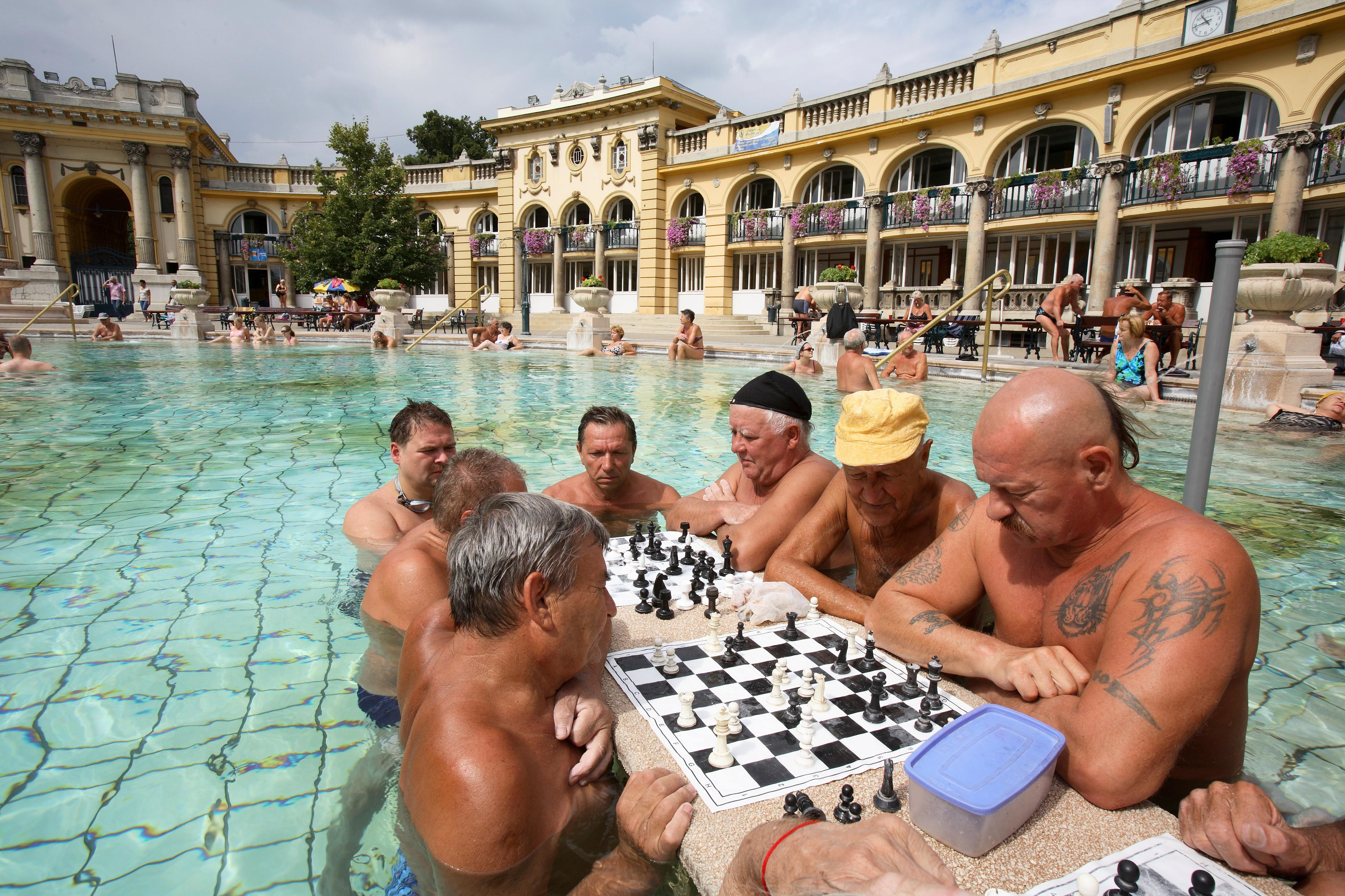 Buy a classic Guardian photograph: Szechenyi Baths, Budapest, August 2006