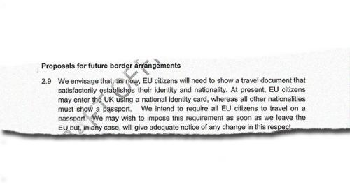 Future border arrangements.