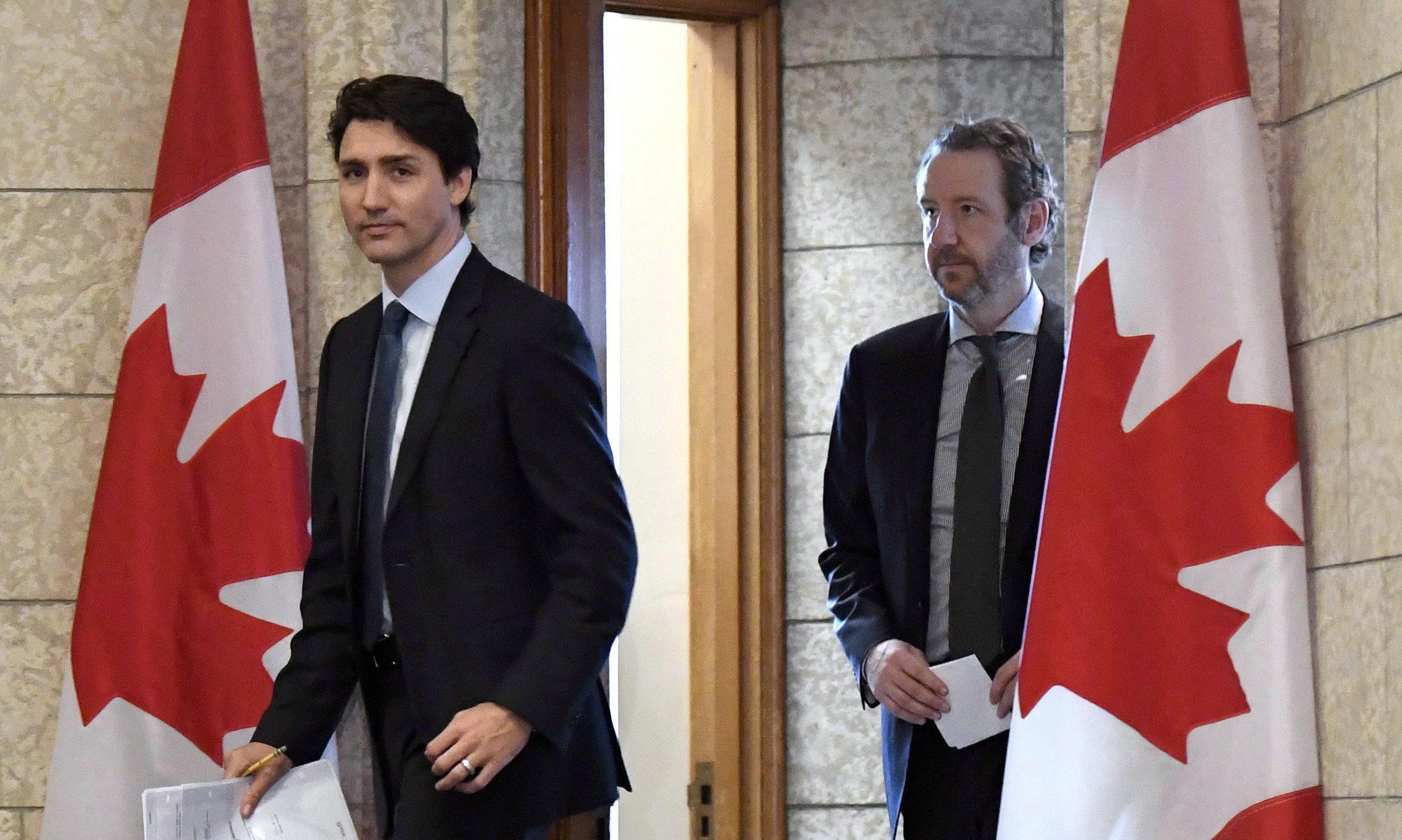 Justin Trudeau's top adviser resigns as 'political meddling' scandal widens