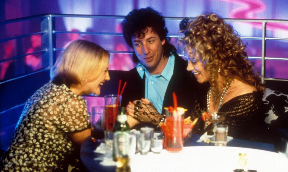 Drew Barrymore, Adam Sandler and Christine Taylor in The Wedding Singer.