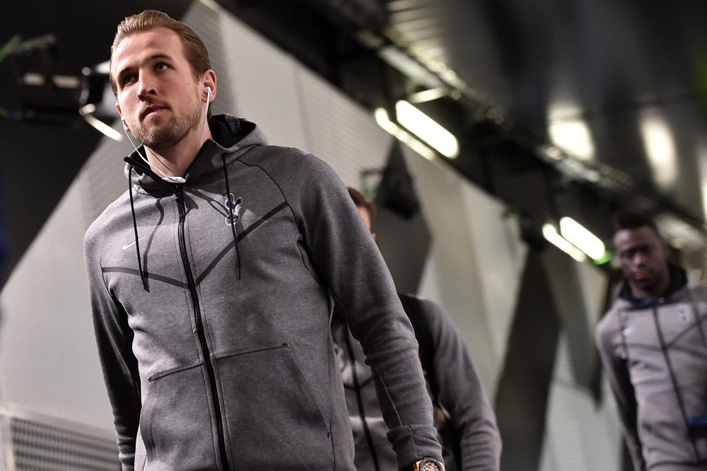 Harry Kane arrives at the Allianz stadium.