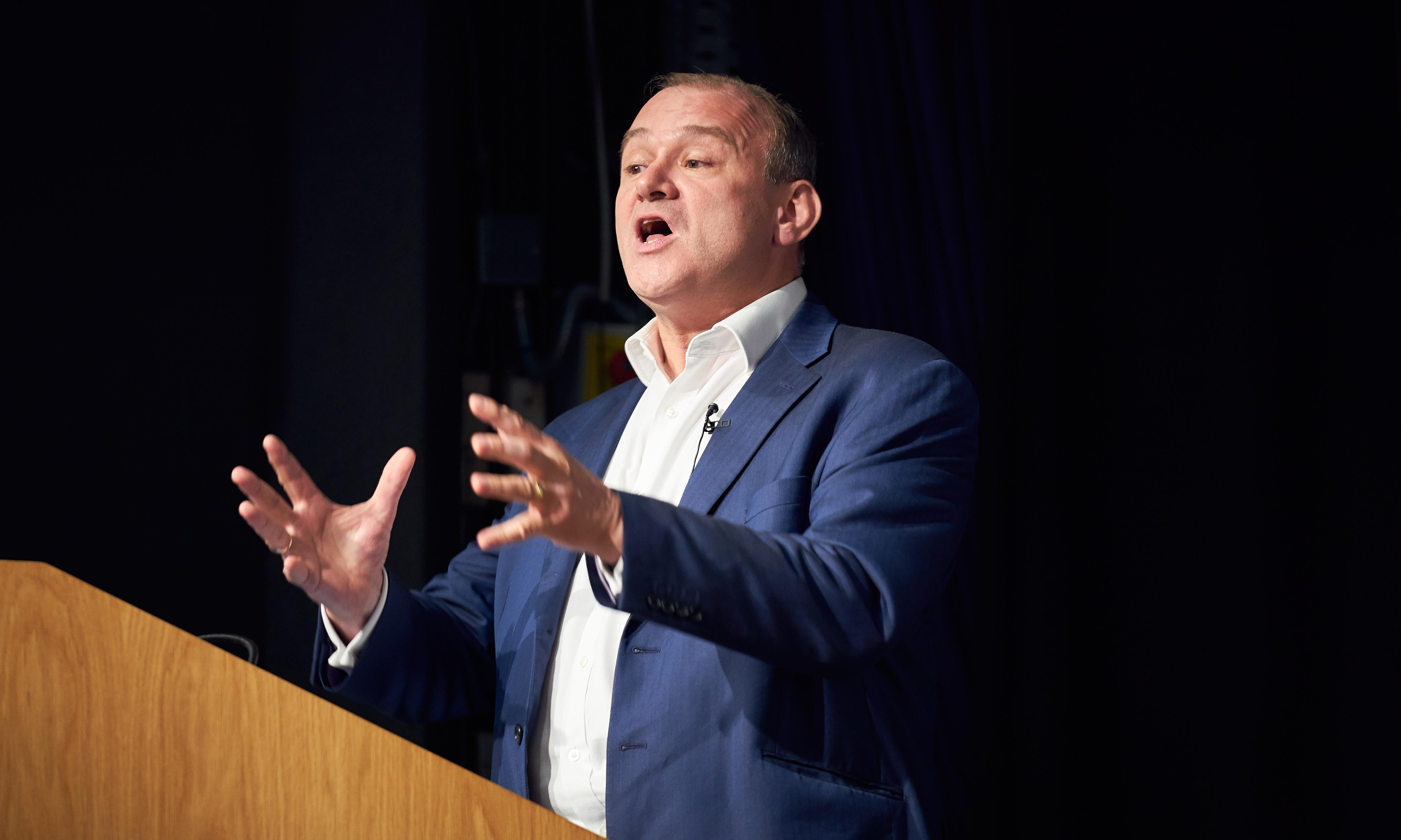 Lib Dem Ed Davey apologises for 'decapitate' comment
